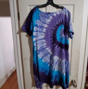 Vgu Hand Dyed 3x Mini Dress Festival Dress Hippie